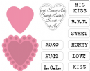 COL1307 Marianne Design Collectables - Die & Stamp Set, Candy Hearts